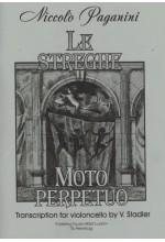 Никколо Паганини: Вечное движение. Пляска ведьм. Переложение для виолончели и фортепиано В. Стадлера.  Автор - Стадлер В.